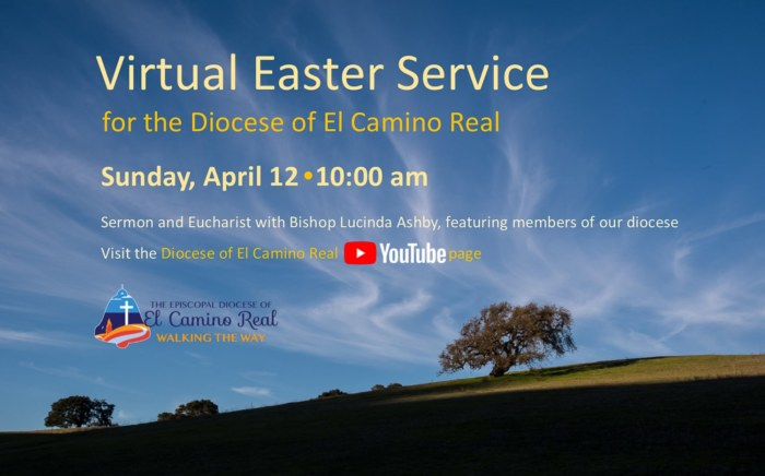 Banner for 2020 Easter service Diocese of El Camino Real