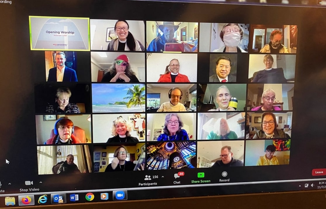 Screenshot of Zoom attendees for 2020 Diocesan Convention
