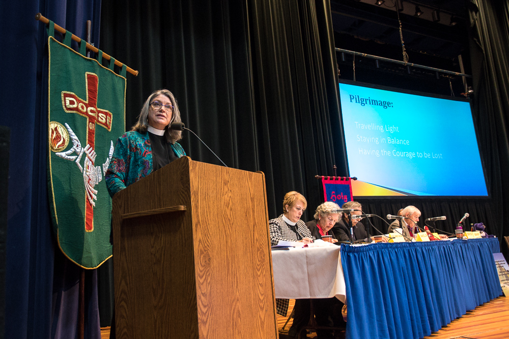 Bishop Elect Asbhy gives address at Convention