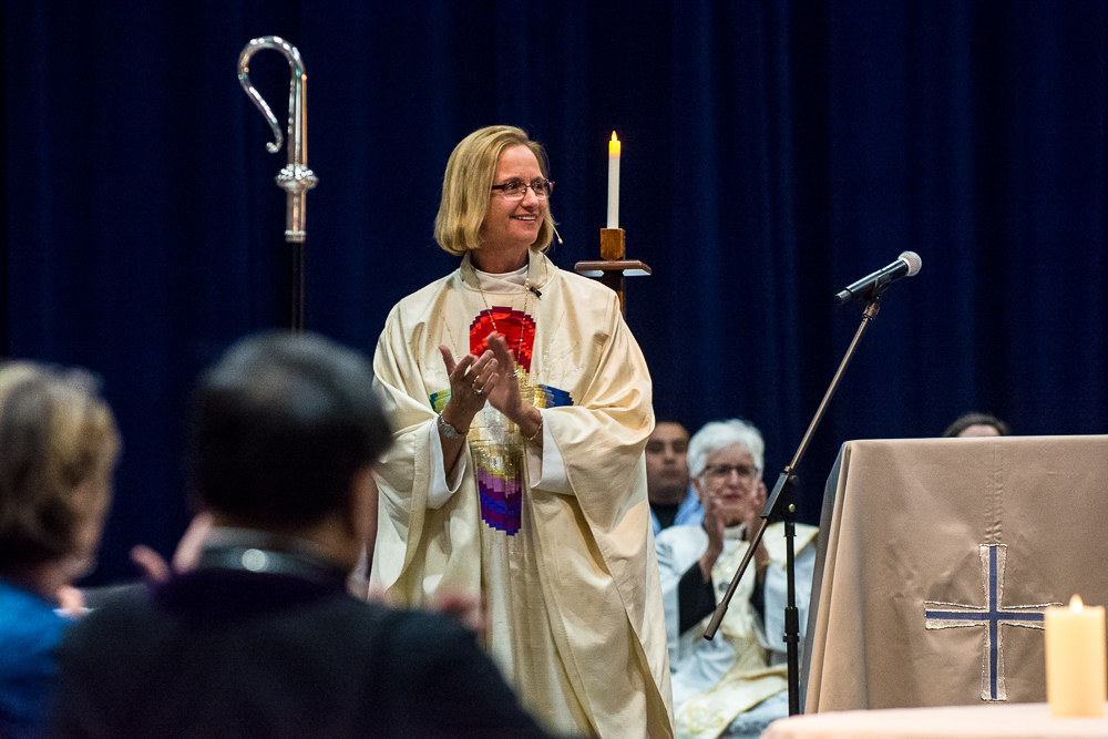 Bishop Mary giving Convention Sermon