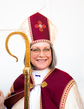 Bishop Lucinda Ashby in January 2020