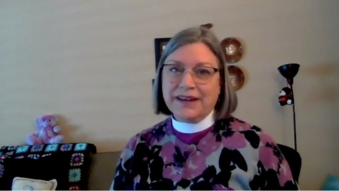 Bishop Lucinda during her Thanksgiving message